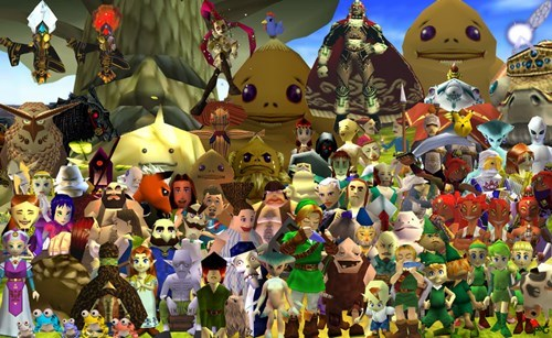 gaming collages ocarina of time zelda