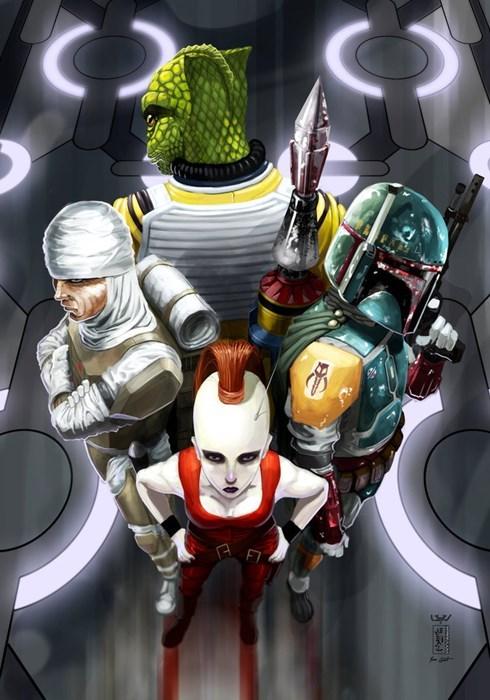 scifi star wars Fan Art boba fett