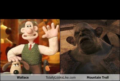 mountain troll ears totally looks like wallace funny