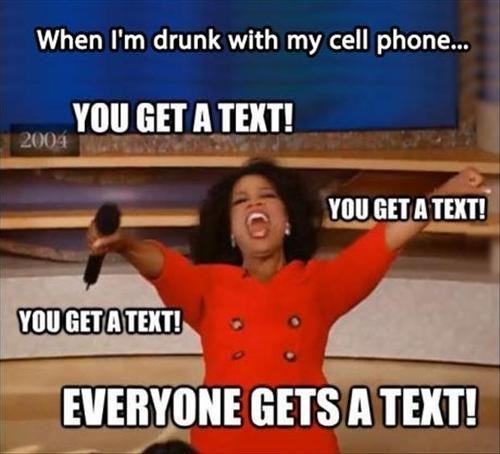 cell phones drunk texts oprah regret - 7645727232
