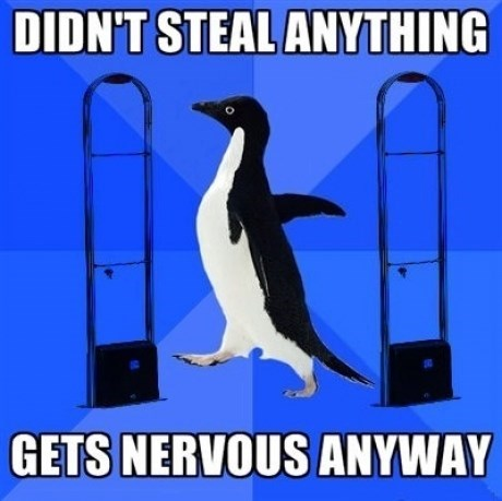socially awkward penguin shopping Memes alarms - 7645727744