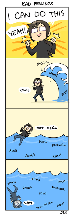 bad feelings sad but true stress funny web comics - 7645782272
