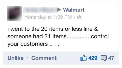 express line customers Walmart