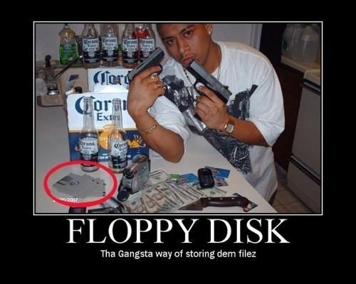 guns gangsta wtf floppy disk funny - 7646187264