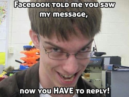 creeper Awkward message facebook funny - 7646443008