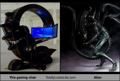 gaming chairs alien totally looks like funny - 7646460160