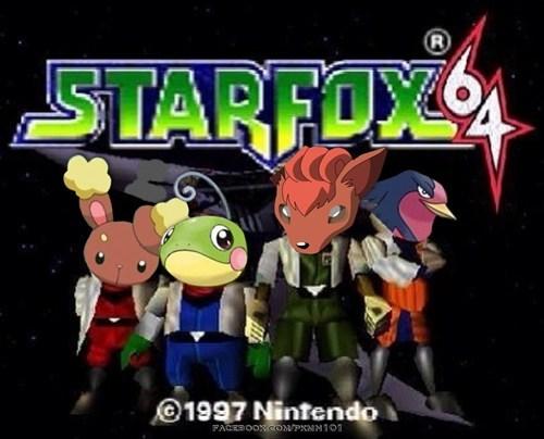 crossover Pokémon starfox 64 - 7646499328