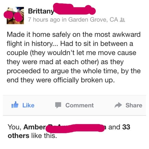 strangers,Awkward,breakups,flying,failbook,g rated