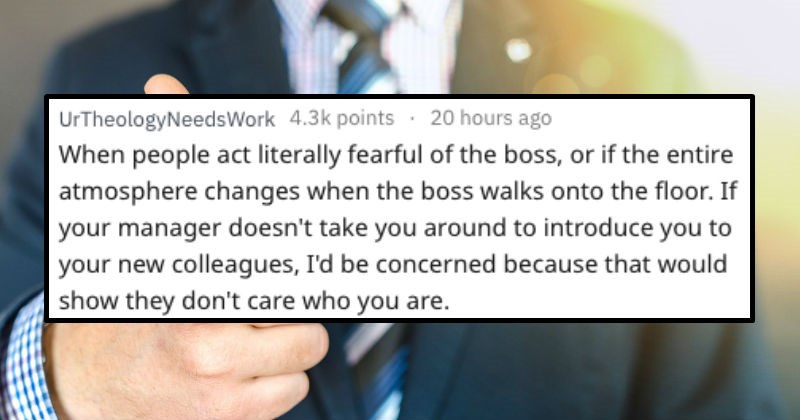 signs you're in a bad workplace