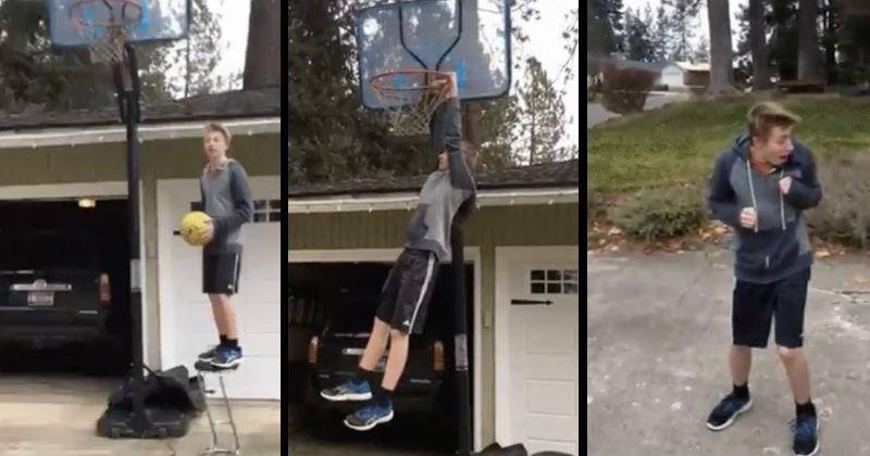 FAILS sports FAIL gifs acrobatics falls funny Video dogs ball painful ridiculous basketball football dunk - 7648773