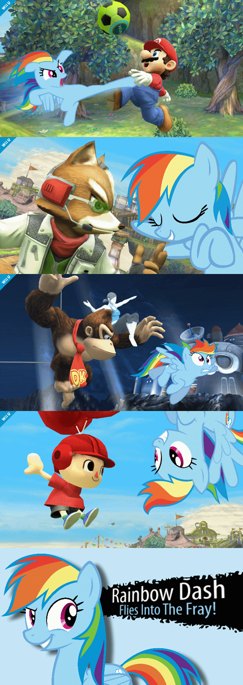 super smash bros,video games,rainbow dash