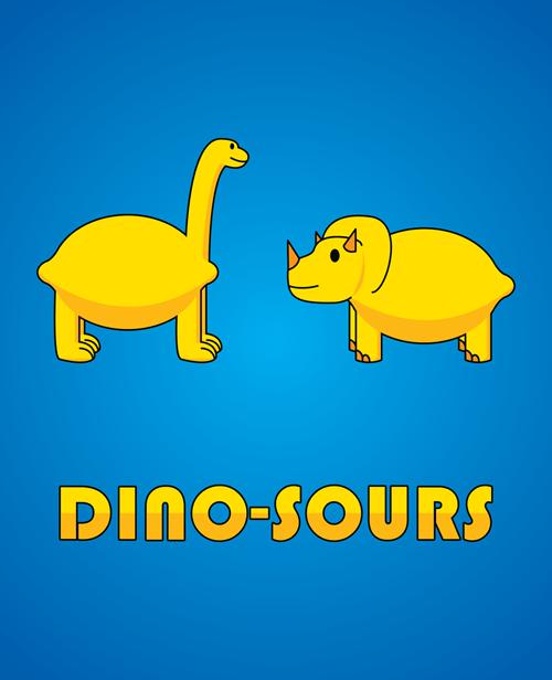lemons puns funny dinosaurs - 7648951552