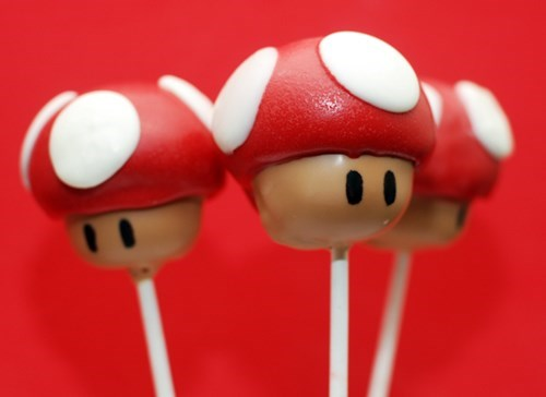 cake,cake pops,video games,Super Mario bros