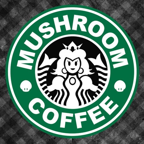 design Starbucks mario