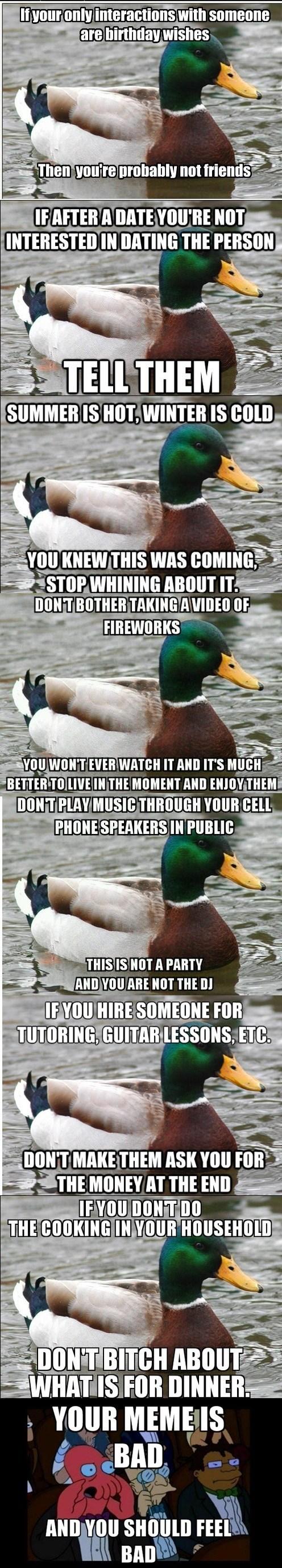 Actual Advice Mallard Memes Zoidberg - 7649092864