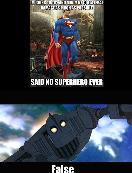 iron giant good guy funny superman - 7649162752