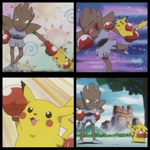 anime pikachu hitmonchan - 7649500928