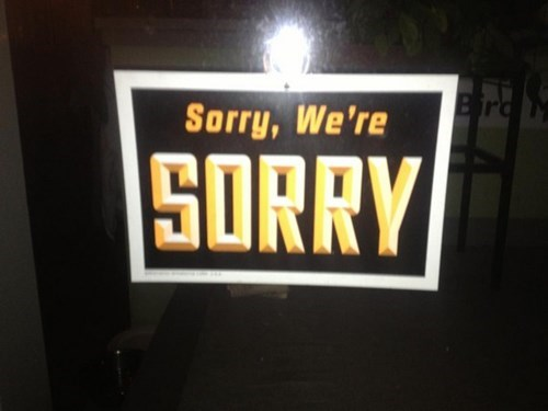 sign sorry funny - 7649619456