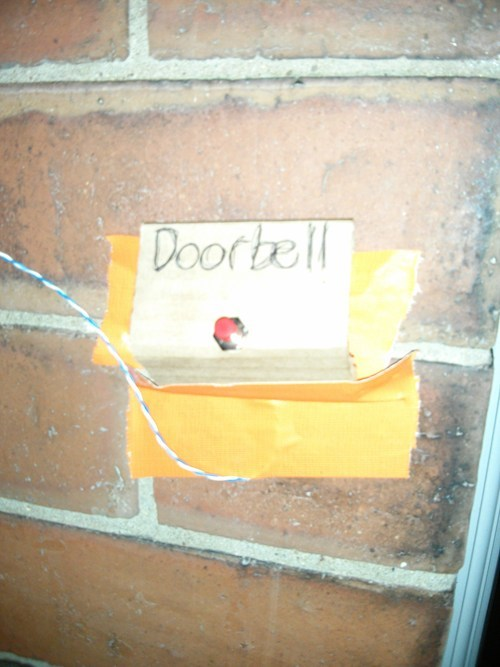 open wires doorbells DIY funny