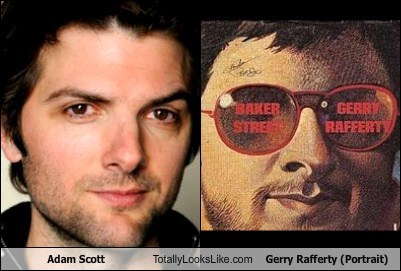 adam scott,totally looks like,funny,gerry rafferty