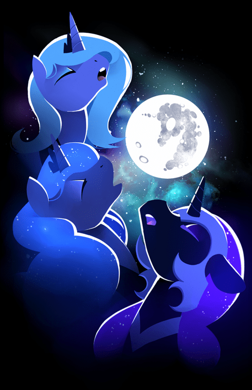 nightmare moon art luna three wolf moon - 7649842176