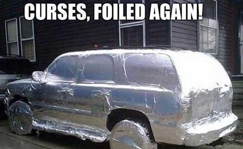 foiled tin foil prank cars - 7649897472