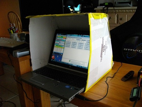 Pizza Box Computer Screen Sunshade