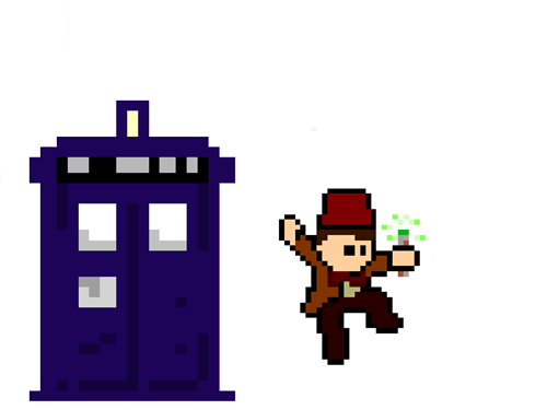 Fan Art 8 bit 11th Doctor - 7650223104