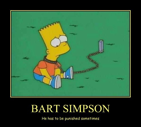 bart simpson,punished,funny