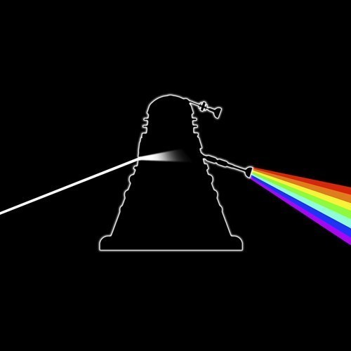 dalek Dark Side of the Moon pink floyd doctor who - 7651516928