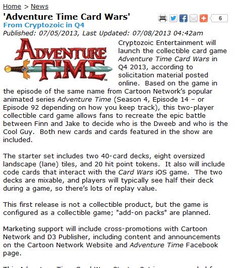 card wars cartoons adventure time - 7651533056
