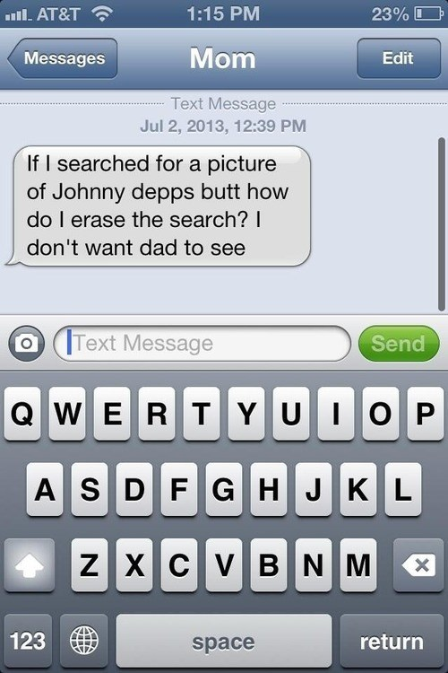 moms,hiding from dad,Johnny Depp,funny