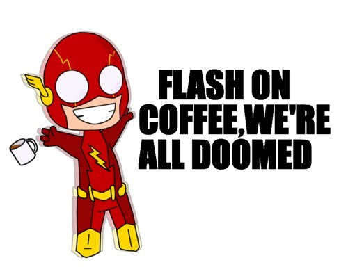 DC,cute,coffee,the flash,flash