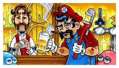 beer art video games mario funny - 7651987456