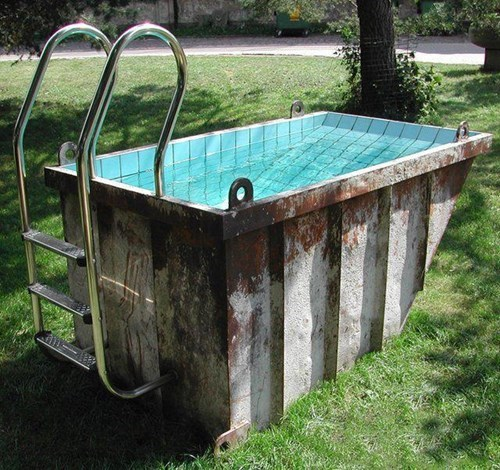 dumpsters pools funny backyards g rated there I fixed it