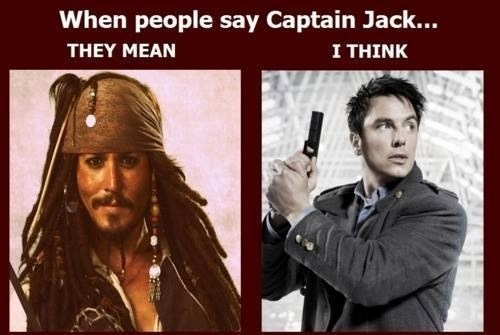 Captain Jack Harkness Pirates of the Caribbean doctor who captain jack sparrow - 7652072704