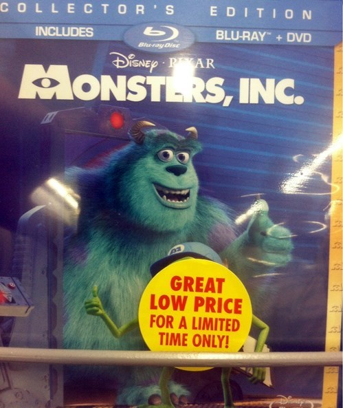 disney,DVD,monsters inc,pixar,funny