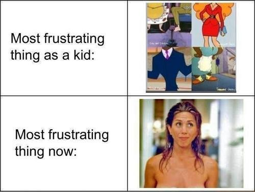 frustration growing up cartoons