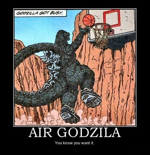 godzilla,basketball,funny