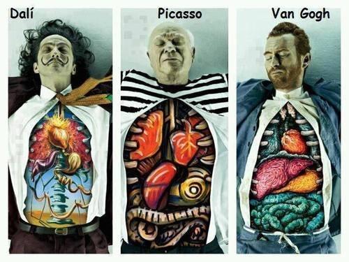 painter art Van Gogh dali funny picasso - 7652256768