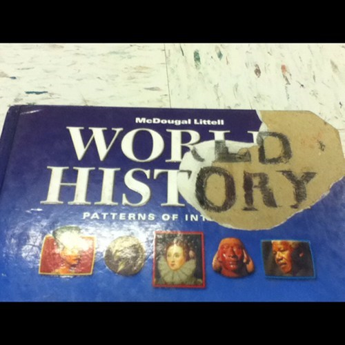 history text books cover funny