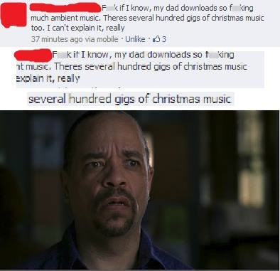 christmas music,ice t,svu,failbook,g rated