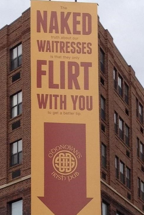 bar sign false advertising au naturale funny g rated dating - 7652442368