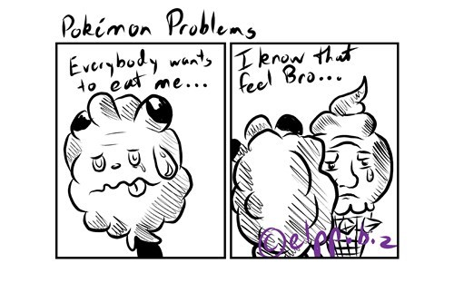 Swirlix,comics,vanillite,pokemon problems