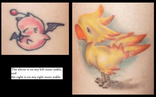 final fantasy,tattoos,video games