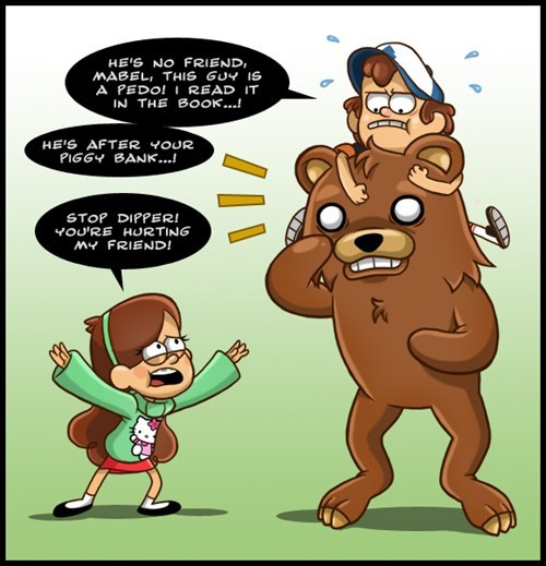 disney Fan Art pedobear gravity falls - 7652955648