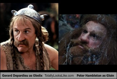 obelix,gloin,Gérard Depardieu,The Hobbit,totally looks like,funny