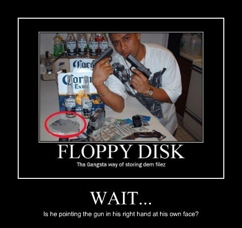 guns gangsta floppy disks funny - 7654194176