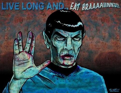 Spock zombie Star Trek halloween - 7654239744