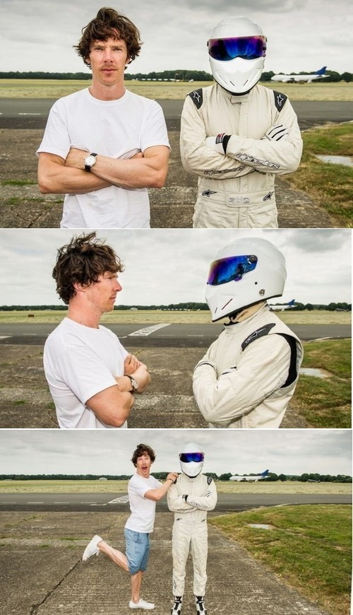 benedict cumberbatch,the stig,celeb,top gear
